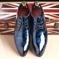 Wholesale low heel champagne wedding shoes - 2018 England Fashion Men'S Genuine Leather Shoes Male Casual Flats Party Shoes Men Leather Oxfords Shoes Large Size T57