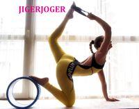 gold spandex catsuit großhandel-JIGERJOGER Frauen One Piece Yoga Pilates Körper Balance Jumpsuit Body Backless brasilianischen Stil runden Hals halten Sport Catsuit