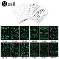 дизайн музыкального искусства оптовых-Mtssii 1 Sheet Luminous Nail Art Stickers Nails Wraps Merry Christmas Xmas Music Animals Design Manicure Decoration sticker Tips