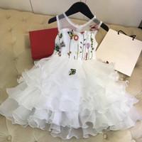 Ball Gown Wedding Dress for sale - White Princess Wedding Tutu Dress Children Clothing Summer 2018 Formal Toddler Girl Party dress for Girls Clothes Kids Dresses