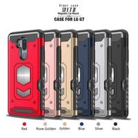 mıknatıs kasası toptan satış-Kart yuvası Tasarım Kapak Için LG V30 Q6 Q8 G6 G7 Huawei P Için akıllı Mate10 lite Araba Standı ile Çalışmak Mıknatıs montaj Tutucu Telefon Case Arka 1 adet