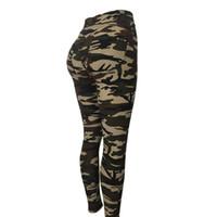 quality sport leggings toptan satış-Kadınlar yoga tayt kamuflaj yüksek bel tayt çalışan kadınlar yüksek kalite fitness spor tayt ab camo yoga pantolon