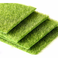 ingrosso green moss-Prato in miniatura erba verde micro paesaggio decorazione fai da te mini fata giardino piante simulazione artificiale finto muschio decorativo