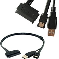 cabo do disco rígido do laptop venda por atacado-2.5''Hard Drive de Disco Portátil SATA 22Pin para eSATA Dados USB Powered Cable Adapter Converter 0.5 M
