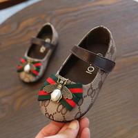 сандальный балет оптовых-Детские туфли для девочек весна осень галстук-бабочка большие девушки сандалии Baotou дети сладкие туфли принцессы ребенка балет коричневый размер 21-30