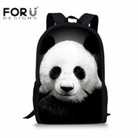 Wholesale girls backpacks panda - FORUDESIGNS Cute Kids School Bagpacks 3D Panda Animal Printing Schoolbag for Children Boys Girls Mochila Infantil Teens Rucksack
