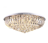 Wholesale modern wedges - Round Modern Crystal Ceiling Lamp Luxury K9 Crystal Chandeliers for Living Room Bedroom Decor Dia40 60 80cm