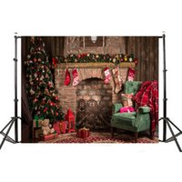 Wholesale photography wall backdrops for sale - MINIFOCUS x5ft Christmas Photography Backdrops for Photographers Wood Wall Backdrop White Snow Christmas Balls Photo Background