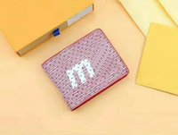Wholesale folding box spring - MEN SPRING-SUMMER 2018 SHOW Serie Folded and Zipper Casual Handbag Water Ripples Day Clutch Coin Wallets Credit Card Cover Handbag with box