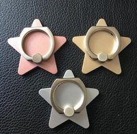 Wholesale Point Ring - Five-pointed star ring bracket cross phone buckle creative mobile phone ring manufacturers large spot wholesale
