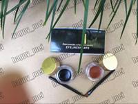 usine d'eye-liner achat en gros de-Usine Directe DHL Livraison Gratuite Hot New Maquillage Des Yeux Eyeliner Double Couleur Eyeliner Gâteau Gei Eyeliner Paste kit! 5gx2