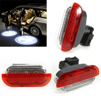 Wholesale red warning light car - Car Door Warning Light Red White for 1998-2005 VW Beetle Golf Jetta Polo Car Led Lamp Light Accessories Car Styling AAA299