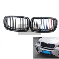parrilla delantera auto al por mayor-M-Color Car Front Hood Kidney Grille Grill para BMW X5 X5M X6 X6M E70 E71 2007 2008 2009 2010 2011 2012 2013 Auto Bonnet Grill