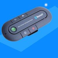 reproductor de mp3 del altavoz del coche de la música al por mayor-Visera solar Altavoz Bluetooth Reproductor de música MP3 Transmisor inalámbrico Bluetooth Manos libres para automóvil Receptor Altavoz Cargador para automóvil 2018