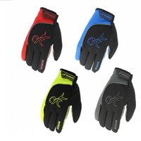 Wholesale finger riding gloves online - Touch Screen PU Gloves Reflective Plus Velvet Keep Warm Mittens Five Fingers Glove For Outdoor Riding bw B