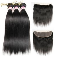 Wholesale siyusi resale online - Siyusi Brazilian Virgin Hair Straight With Lace Frontal Closure Ear To Ear Lace Frontal Closure With Bundles Brazilian Straight Hair