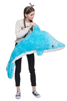 Wholesale animal cushions for kids for sale - Dolphin Plush ToyLarge Stuffed Animal Hugging Pillow Cushion Stuff Dolls Super Soft Cuddly Figures for Child Kids Gift PARTY Favors