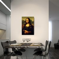 Wholesale oil painting picture framing resale online - Classical Famous Painting Mona Lisa Simulation Canvas Oil Paintings Frameless Living Room Bedroom Poster Decor High Grade ld Ww