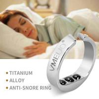 therapie ringt großhandel-Anti Schnarch Ring Magnetfeldtherapie Akupressurbehandlung Schlafmittel Gegen Schnarchen DevSnore Stopper Fingerschmuck Ring