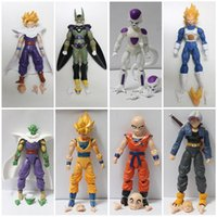 Wholesale crazy action figures - Dragon Ball Figures Toy 12cm Action Figures Crazy Party PVC Dragon ball Joint mobility Figures Best Toy Gift 8pcs lot HHA33