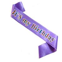 печатные ленты оптовых-Свет Voilet зебра мода печать створки бледно-розовый атласная лента с Днем рождения девушка принцесса партия выступает за всю продажу