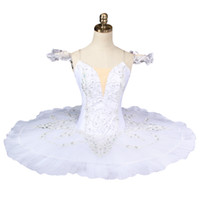 erwachsene schwan kostüm großhandel-Freies Verschiffen Erwachsene White Swan Lake Ballett Tutu Professionelle Ballett Kostüme Frauen Platte tutu Pancake BT8931
