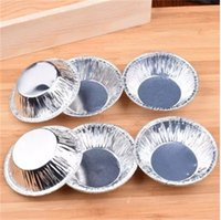 Wholesale Tin Moulds - Disposable Tin Foil Egg Tart Mould Heat Resisting Cake Mold Kitchen Baking Tool 6 2yy C R
