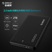 Wholesale notebook drives - ORICO 2TB hdd rack tool free USB 3.0 to sata 3.0 box hdd ssd 2.5 7mm 9.5mm External Hard Drive Case for notebook (Only Case)