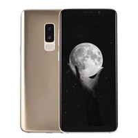 Wholesale 16gb 13mp camera resale online - Fingerprint Goophone S9 Plus Clone GB GB Face ID G WCDMA Quad Core MTK6580 Android inch Full Screen MP Camera GPS Smartphone