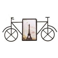 foto de marco de hierro al por mayor-nuevos marcos creativos de la foto de la bicicleta del hierro del metal marco del cuadro de la decoración del sitio del gabinete de 6 pulgadas