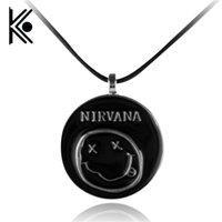 ожерелье кулон для мальчиков оптовых-весь salefree 1 шт. / лот черный подвески ретро Nirvana Ожерелье для женщин / мужчин девочек мальчиков