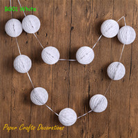 Wholesale mint party decorations resale online - 3sets ft quot Set Mint Green Small Tissue Paper Party Ball Garland Summer Birthday Wedding Baby Shower Decorations