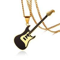 ссылка гитары оптовых-Cuban Link Chain Music Ожерелье для Мужчин Женщин Популярные RB Гитара Ожерелье для Музыкального Фестиваля Ювелирных Изделий