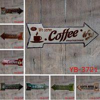 Wholesale vintage tin beer signs resale online - New Coffee Beer Garage cupcake Exit Vintage Arrow Irregular Tin Sign Gift Craft Wall Plaque Cafe Supermarket Decor