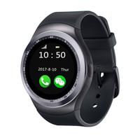 человек смотрит новый дизайн оптовых-2018 New Design  Y1 Smart Watch With Whatsapp And Facebook Twitter APP Women Men Smartwatch For IPhone HTC Xiaomi Digital