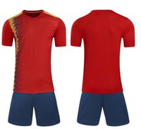 Wholesale World Cup Spain Home soccer jerser Court Fan Edition Serve Short Sleeve Strips Jersey Thai Version Quality