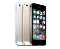telemóveis iphone 5s venda por atacado-Original 4.0 polegadas iphone 5s ios 11 sistema apple iphone5s a7 16g / 32gb / 64g sem impressão digital desbloqueado telefone móvel remodelado telefones celulares