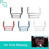 Wholesale mustangs accessories online - Car DashBoard GPS Frame Panel Decoration Covers ABS For Ford Mustang Auto Styling Interior Accessories