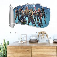 Wholesale Brand New Fortnite wall Sticker Graffiti Computer PS4 Pad Phone Laptop Fridge Lage Case Bag stickers cartoon PVC Wall stickers home decor