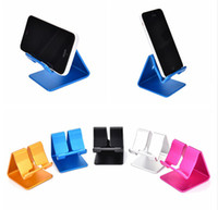 Wholesale metal desk phone holder online – Hot Universal Aluminum Metal Mobile Phone Tablet Holder Desk Stand for iPhone Plus s8 plus ZTE Max XL with Retail package