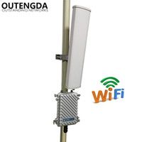 Wholesale Wireless Outdoor Amplifier - Long Range 400meters Wifi Signal Amplifier Extender 2.4GHz 300Mbs Wireless Router Outdoor AP WiFi Hotspot Base Station with 14dbi ANT