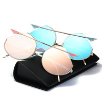 Wholesale Trendy Shades - Womens Sunglasses Trendy Cat Eye Fashion Sunglasses Brand Woman Vintage Rose Gold Pink Sun Glasses for Women Shades lunettes