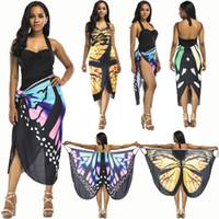 f1bf41ebedb 18ss Butterfly Pareo Bathing Suit Women Beach Skirt Cover Up Swimsuit Cover  Ups Beach Sarongs Summer Beach Dress Tunic Swimwear Women