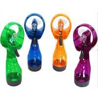 ingrosso ventilatori acqua nebbia-Mini Hand Held Spray Portable Travel Maniglia Acqua Spray Cool Mist Fans Bottiglia Mist Sport Travel Beach Camp C4523