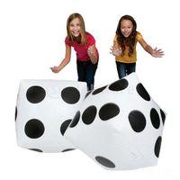 ingrosso dadi bianchi neri-2pcs Jumbo Inflatable Dice Per bambini in bianco e nero Grandi attività all'aperto 30 * 35cm