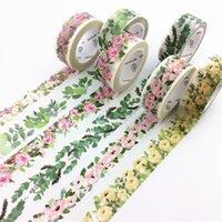 ingrosso piante primavera-Nastro di carta floreale Washi Spring Flowers Plants Masking Washi Tapes Adesivi decorativi DIY Cancelleria Forniture scolastiche 2016