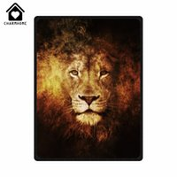Wholesale Lion King Bedding - CHARMHOME Personnalized Custom Fleece Blanket The Head of Cool Lion Love Wild Animal Sofa Bed Kid Adult Warm Throw Blanket