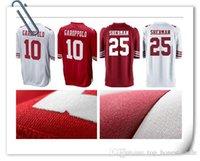 Wholesale Foster Jerseys - San Francisco #25 Richard Sherman 49er jersey Men's 10 Jimmy Garoppolo 16 Joe Montana 53 NaVorro Bowman 56 Reuben Foster Limited Jersey