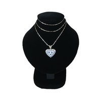 Wholesale wooden jewelry display stands - promotional Jewelry display necklace neckform mini bust torso free shipping