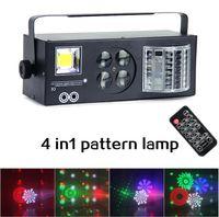 lazer dj toptan satış-Dj Ekipmanları 4 in1 Lazer Flaş Flaş Desen Kelebek Derby DMX512 LED Aydınlatma disko DJ sahne ışık Etkisi lightting Dört işlevleri